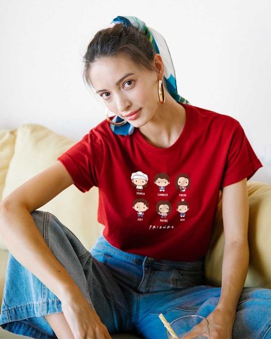 Shop Chibi Friends Boyfriend T-Shirts (FRL)-Front