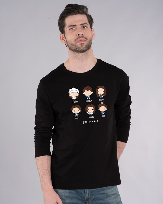 Shop Chibi Friends Full Sleeve T-Shirt (FRL)-Front