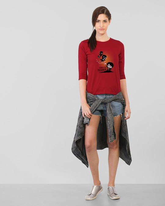 Shop Chibi Harry Round Neck 3/4th Sleeve T-Shirt (HPL)-Full