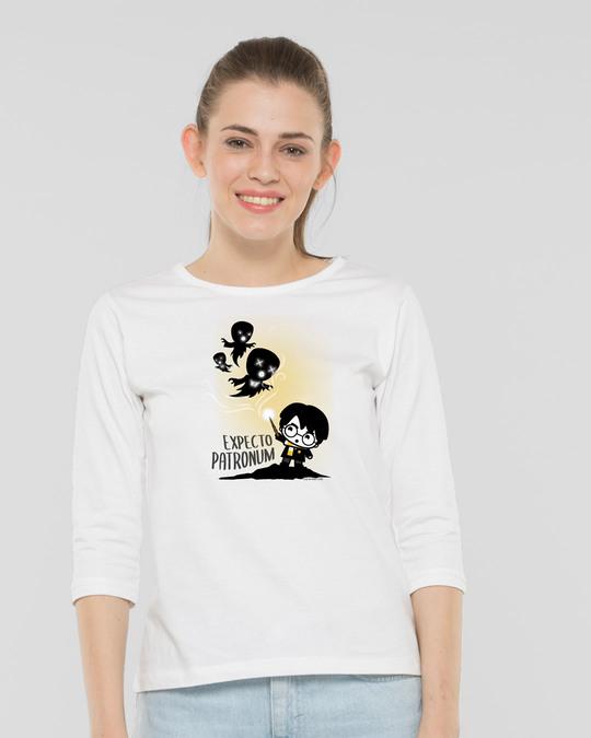 Shop Chibi Harry Round Neck 3/4th Sleeve T-Shirt (HPL)-Back