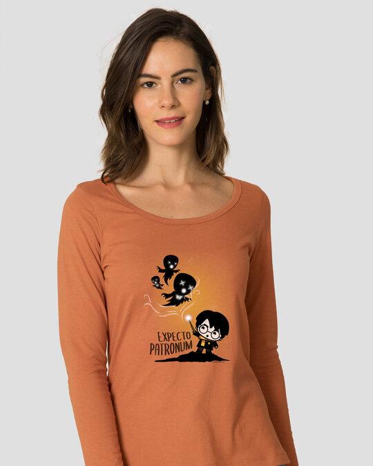 Shop Chibi Harry Scoop Neck T-Shirt (HPL)-Back