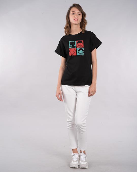 Shop Chibi Justice Boyfriend T-Shirt (DCL)-Full