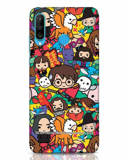 Shop Chibi Mix Potter Huawei P30 Lite Mobile Cover (HP)-Front