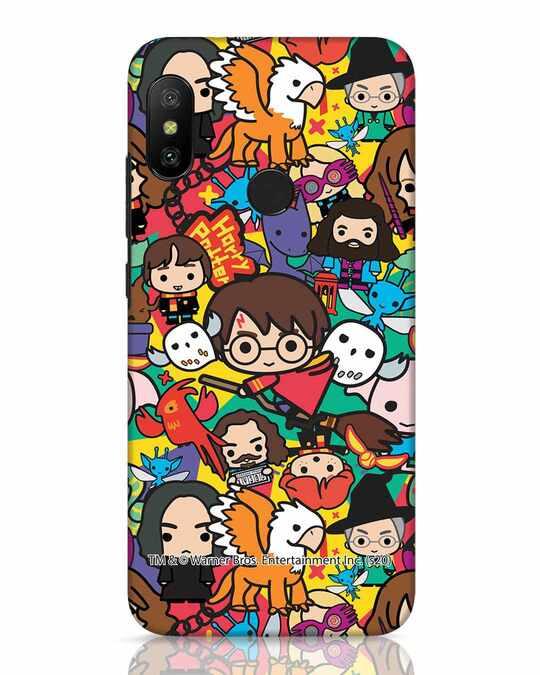Shop Chibi Mix Potter Xiaomi Redmi 6 Pro Mobile Cover (HP)-Front