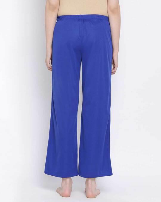 Shop Clovia Chic Basic Pyjama in Blue-Design