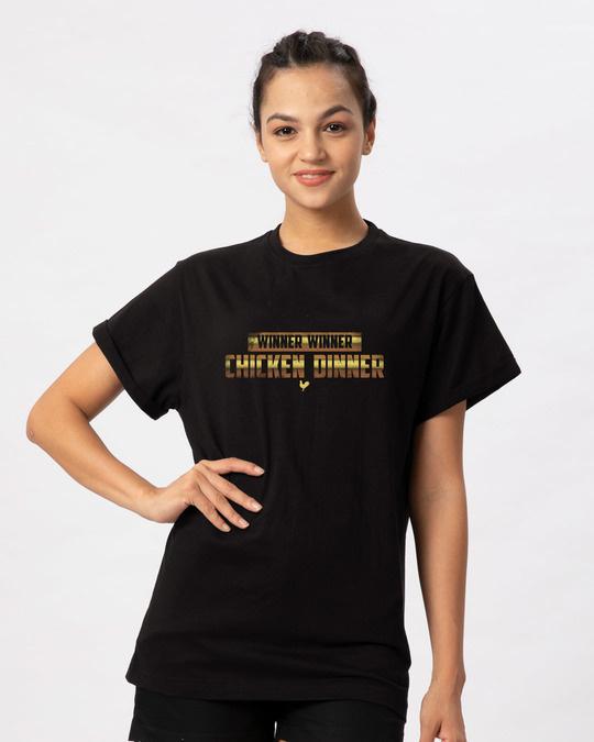 Shop Chicken Dinner Boyfriend T-Shirt-Front