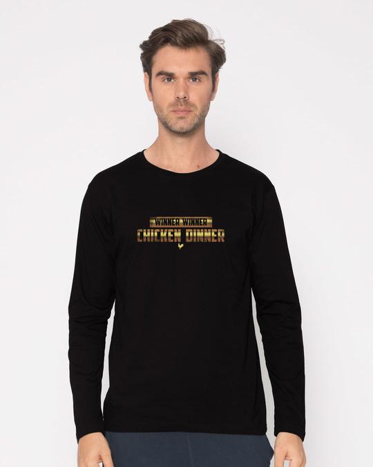 Shop Chicken Dinner Full Sleeve T-Shirt-Front