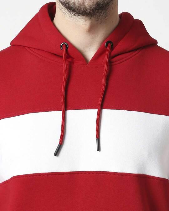 Shop Chili Pepper Chest Panel Hoodie Sweatshirt