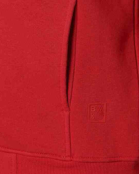 Shop Chili Pepper Stylised Panel Zipper Hoodie