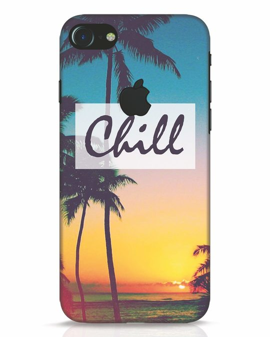 Shop Chill Beach iPhone 7 Logo Cut Mobile Cover-Front