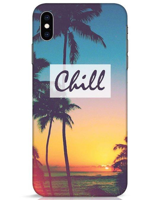 Shop Chill Beach iPhone XS Max Mobile Cover-Front