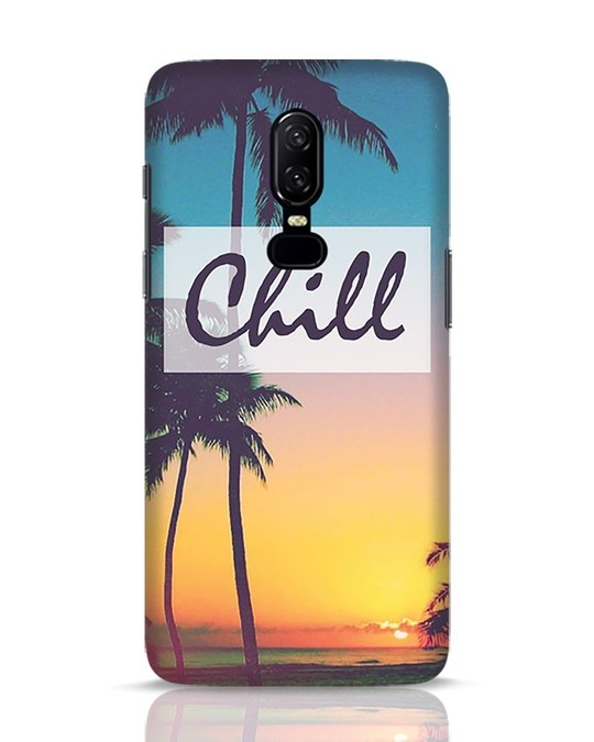 Shop Chill Beach OnePlus 6 Mobile Cover-Front