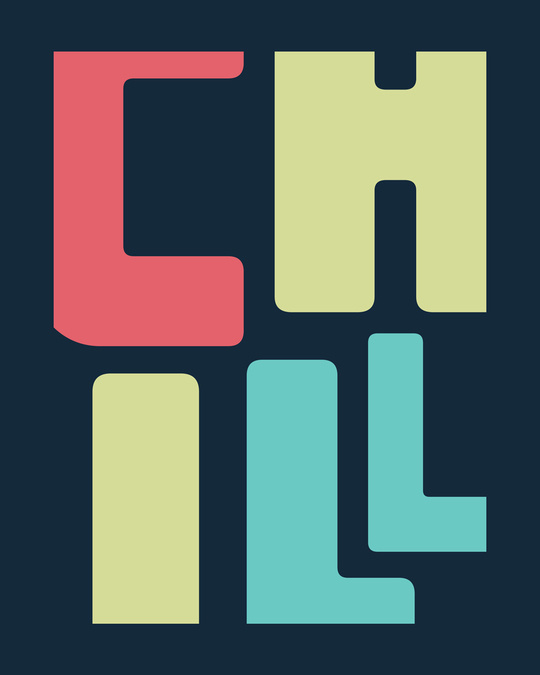 Shop Chill Coloful Full Sleeve T-Shirt