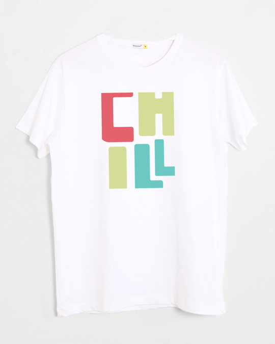 Shop Chill Coloful Half Sleeve T-Shirt-Front