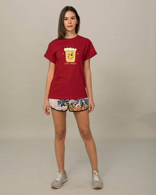 Shop Chill Maar Boyfriend T-Shirt-Full