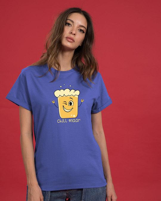 Shop Chill Maar Boyfriend T-Shirt-Front