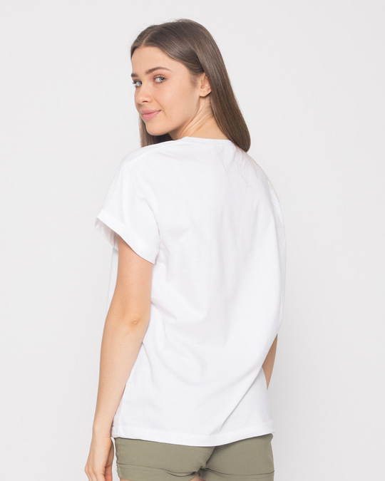 Shop Chill Maar Boyfriend T-Shirt-Back
