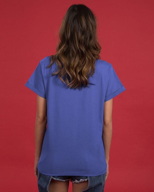 Shop Chill Maar Boyfriend T-Shirt-Back