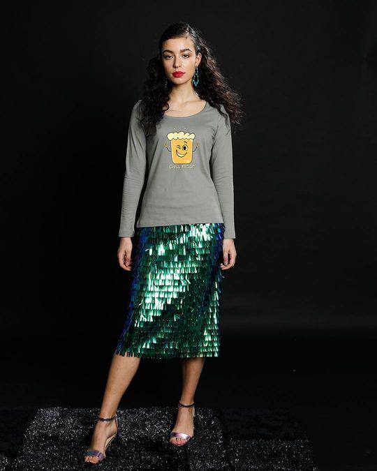 Shop Chill Maar Scoop Neck Full Sleeve T-Shirt-Design