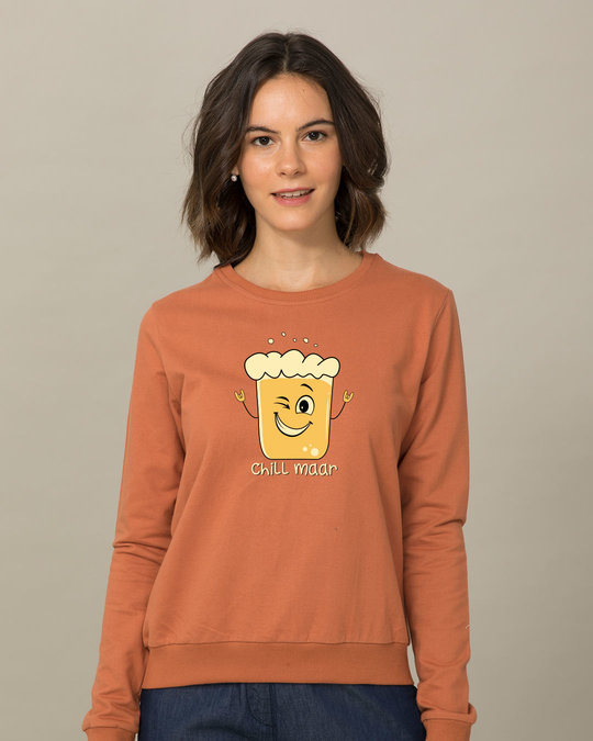 Shop Chill Maar Fleece Light Sweatshirt-Front