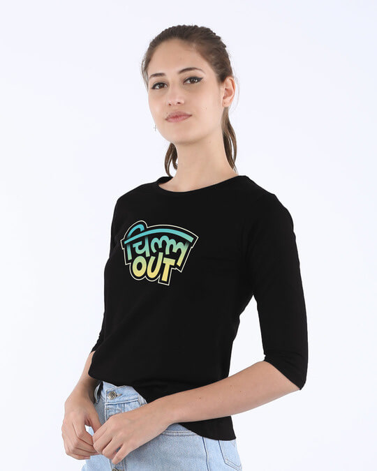 Shop Chill Out Round Neck 3/4th Sleeve T-Shirt-Back