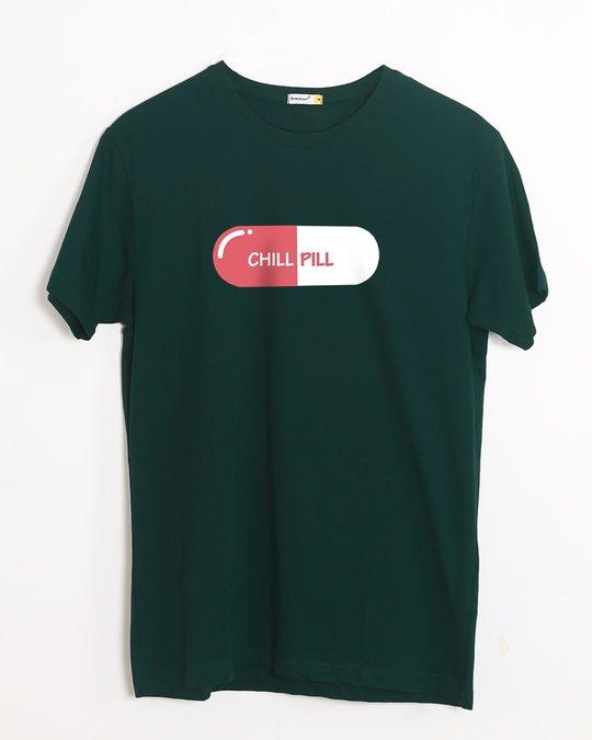 Shop Chill Pill Half Sleeve T-Shirt-Front