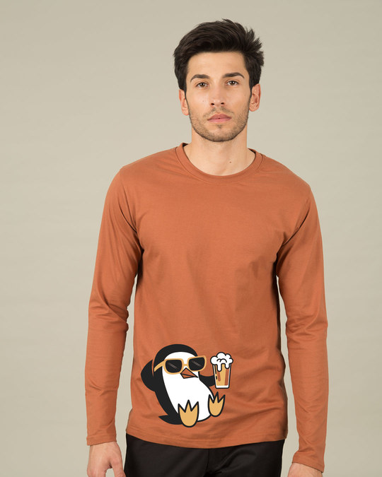 Shop Chillax Penguin Full Sleeve T-Shirt-Front