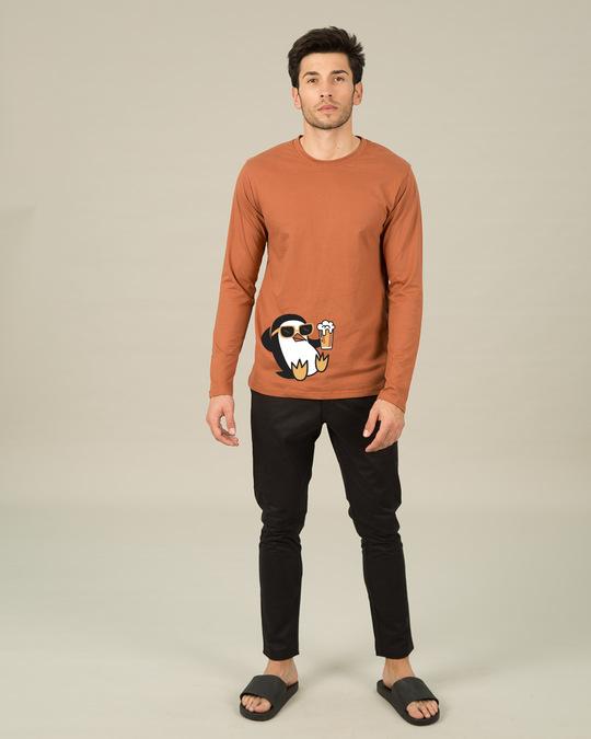 Shop Chillax Penguin Full Sleeve T-Shirt-Full
