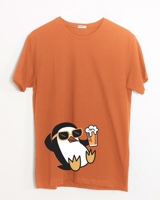 Shop Chillax Penguin Half Sleeve T-Shirt-Front