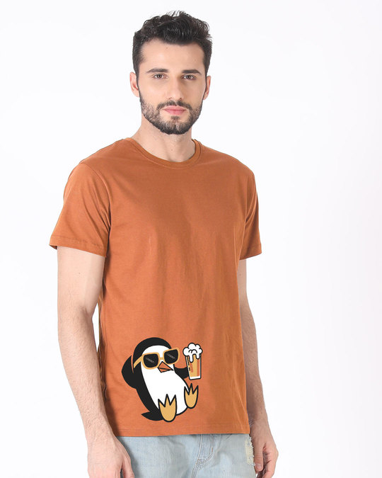 Shop Chillax Penguin Half Sleeve T-Shirt-Full