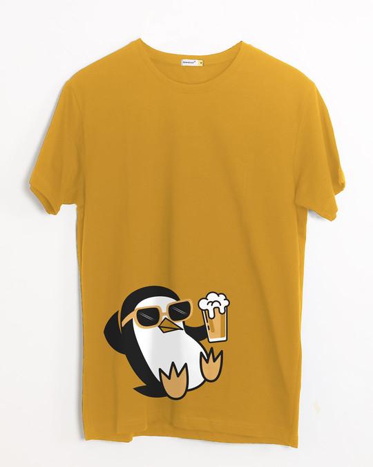 Shop Chillax Penguin Half Sleeve T-Shirt-Front