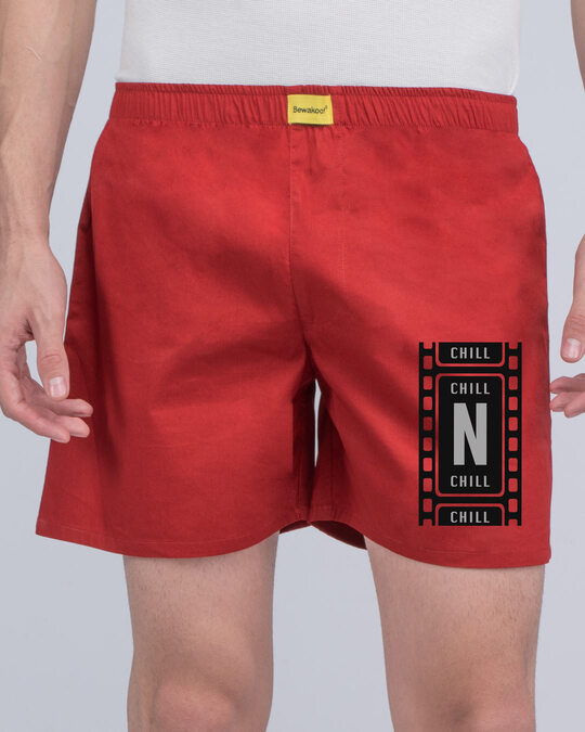 Shop Chillflix Side Printed Boxer-Front