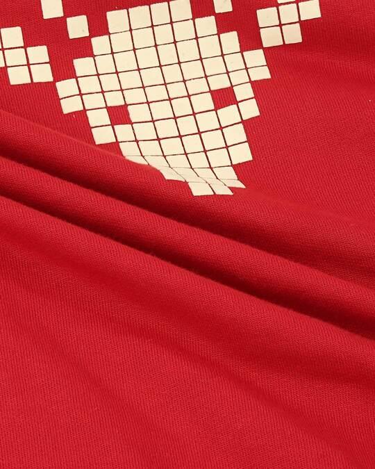 Shop Women HD Chest Print Red Sweatshirt