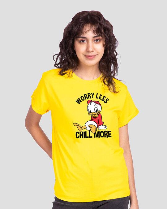 Shop Chilling Duck Boyfriend T-Shirt (DL) Pineapple Yellow-Front
