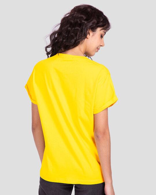 Shop Chilling Duck Boyfriend T-Shirt (DL) Pineapple Yellow-Back