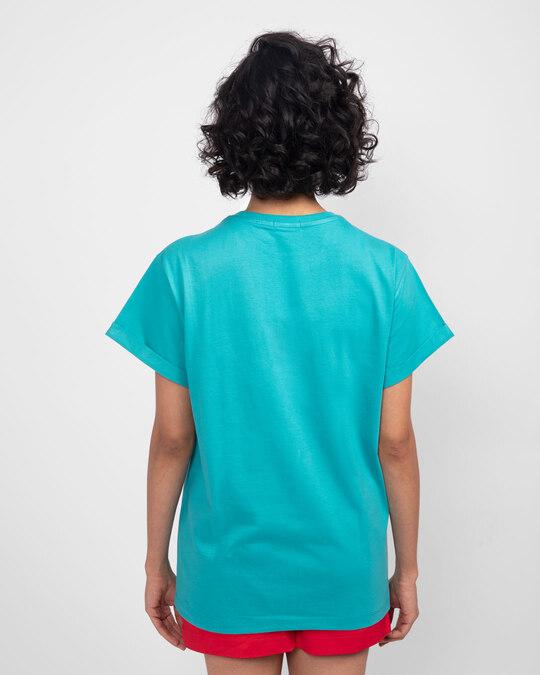 Shop Chilling Duck Boyfriend T-Shirt (DL) Tropical Blue-Back