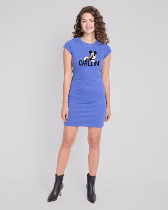 Shop Chilling Mickey Cap Sleeve T-Shirt Dress (DL)-Design