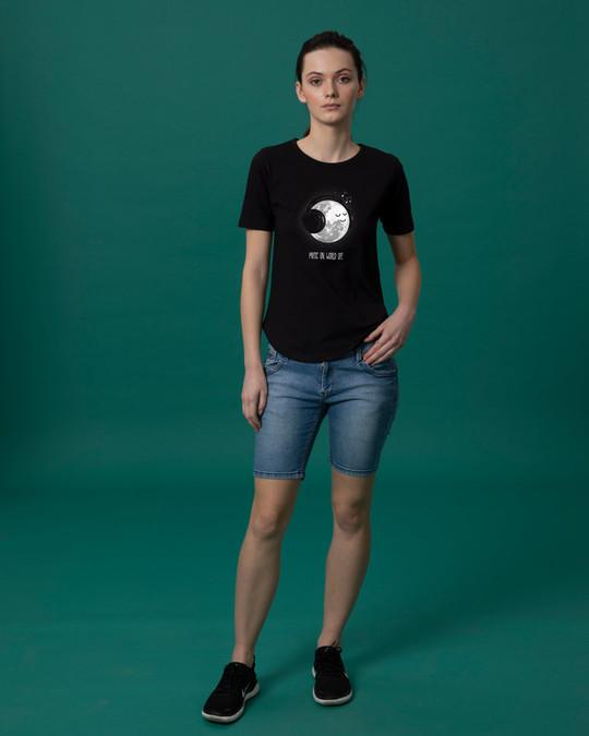 Shop Chilling Moon Basic Round Hem T-Shirt