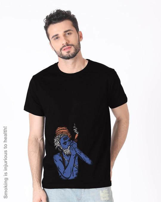 Shop Chillum Baba Half Sleeve T-Shirt-Back