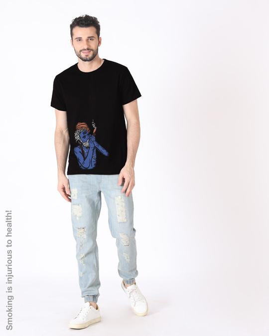 Shop Chillum Baba Half Sleeve T-Shirt