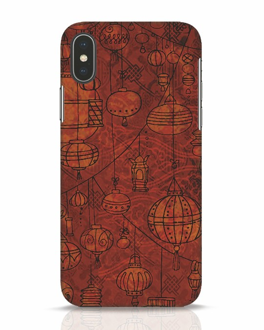 Shop Chinese Lanterns iPhone X Mobile Cover-Front