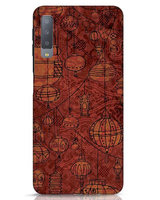 Shop Chinese Lanterns Samsung Galaxy A7 Mobile Cover-Front