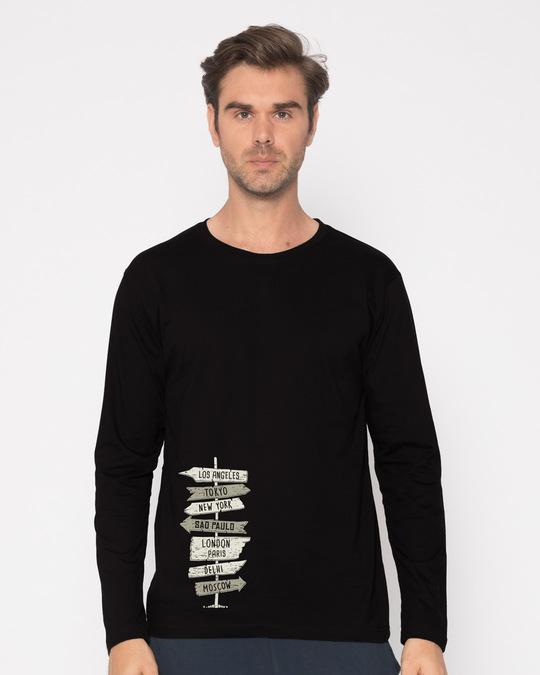 Shop Choose A City Full Sleeve T-Shirt-Front