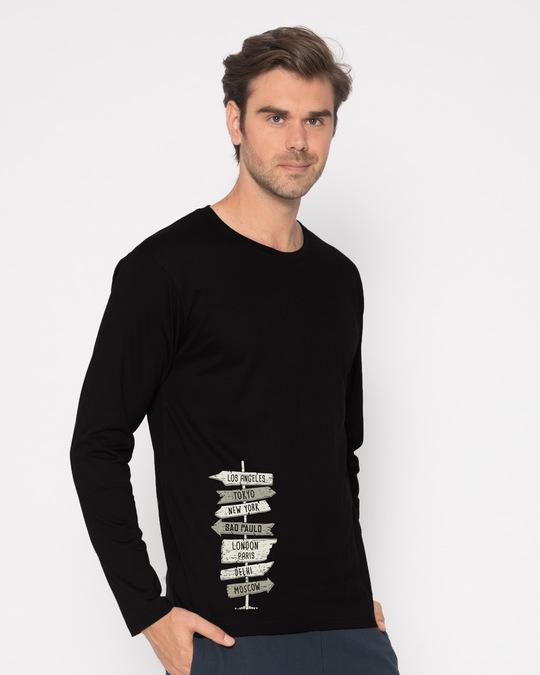 Shop Choose A City Full Sleeve T-Shirt-Back