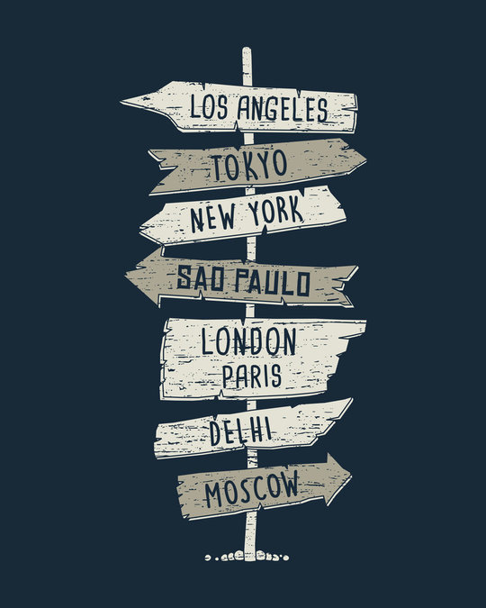Shop Choose A City Half Sleeve T-Shirt