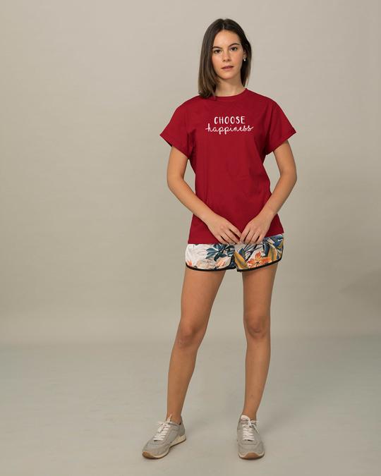 Shop Choose Happiness Boyfriend T-Shirt-Full
