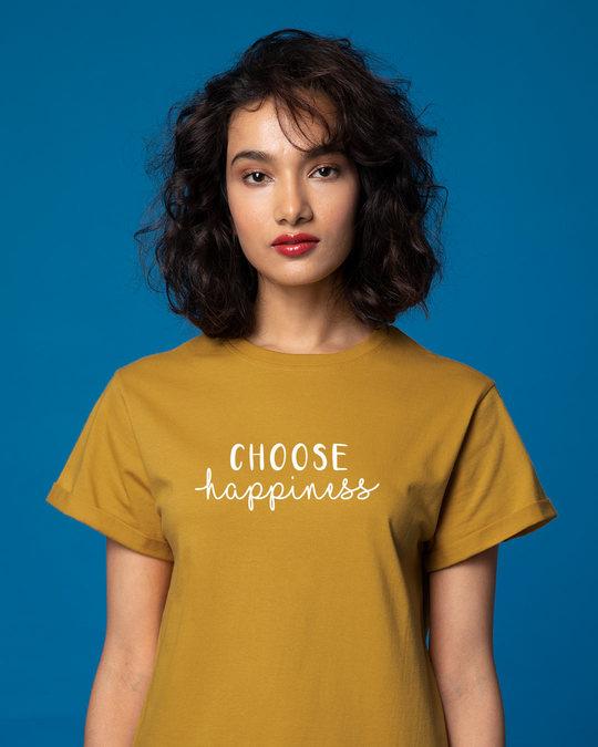 Shop Choose Happiness Boyfriend T-Shirt-Front