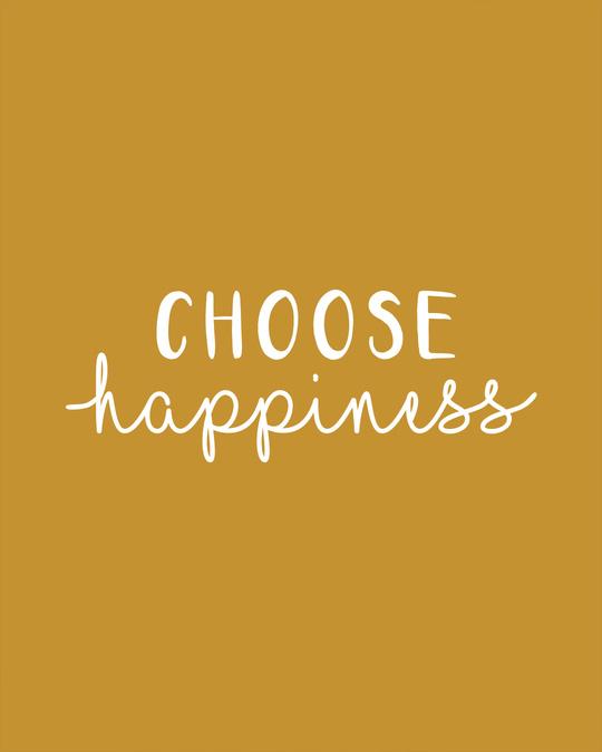 Shop Choose Happiness Boyfriend T-Shirt