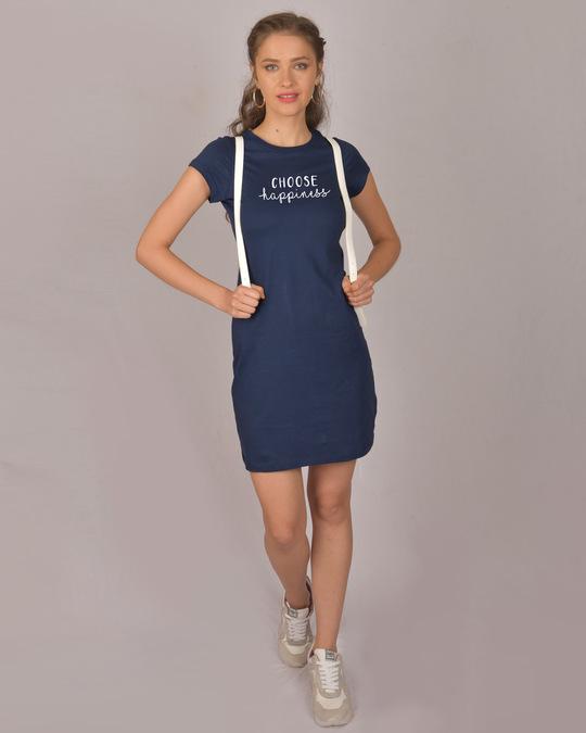 Shop Choose Happiness Cap Sleeve T-Shirt Dress-Full
