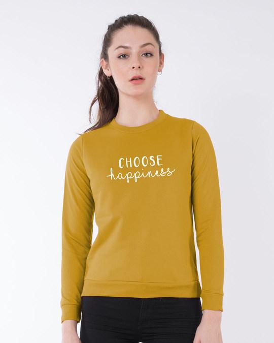 Shop Choose Happiness Fleece Sweater-Front